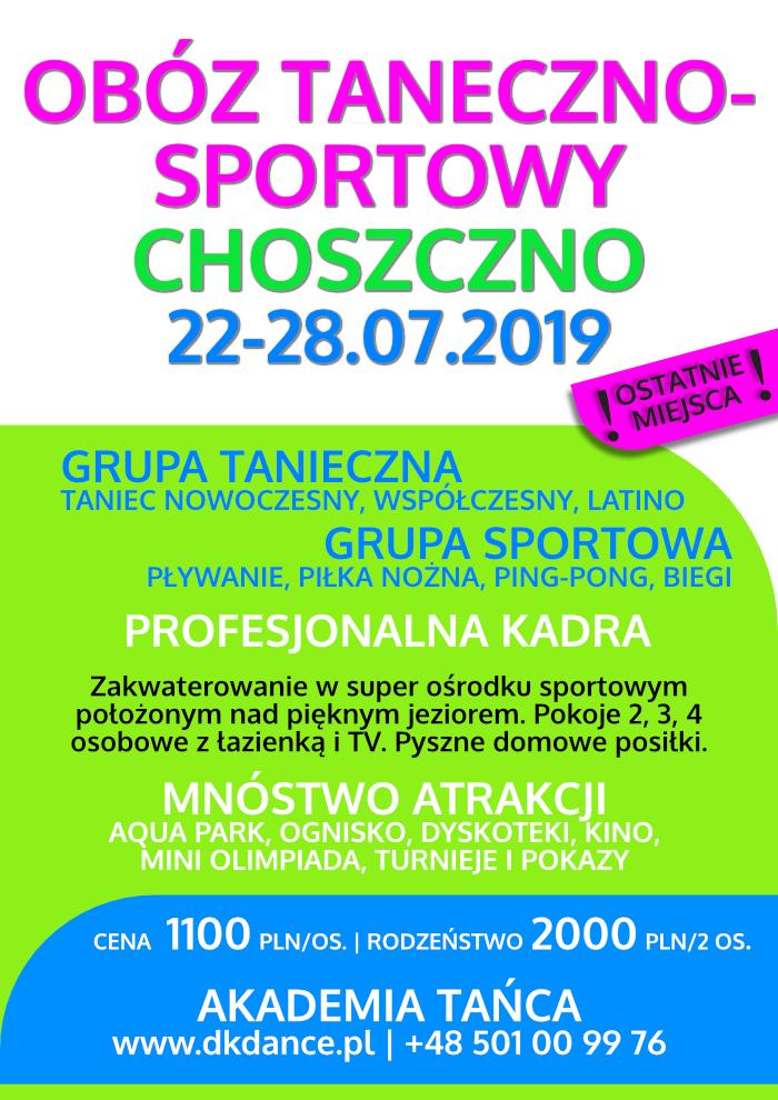Obóz taneczny Choszczno 2019